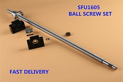Ball Screw Set Sfu1605 L250mm-1550mm Bk12 Bf12 End Support 6.35x10mm Coupler