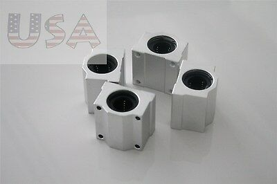 Sc10uu Scs10uu 10mm 4 Pcs Linear Ball Bearing Pillow Block Linear Unit For Cnc
