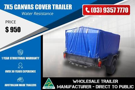 7x5 Canvas Cover Trailer - GVM 600kg Epping Whittlesea Area Preview