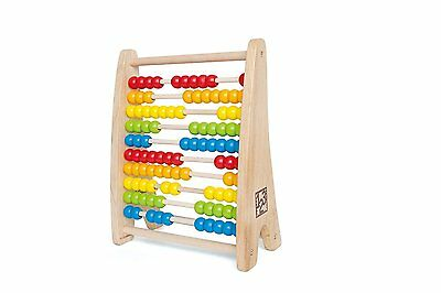 Hape Rainbow Bead Abacus Toy For Kids, Makes Learning Powerful And Fun E0412 New