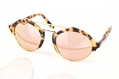 Illesteva Milan 2 brown Havana tortoise print aviator frames sunglasses NEW $300