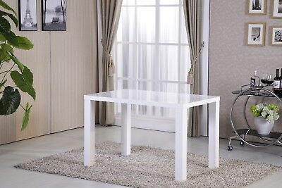 Ofcasa Modern High Gloss White Dining Table Dining Room Kitchen Furniture