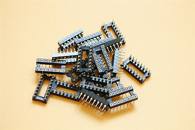 20pcs 16 Pin Dip Machine Tooled Ic Socket Adaptor Solder Type Socket