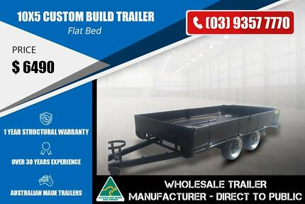 10x5 Flat Bed Trailer - Custom Build Epping Whittlesea Area Preview