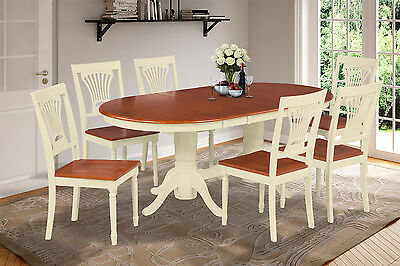 Leaf Oval Dining Table (OVAL DINETTE DINING TABLE SET WITH 18