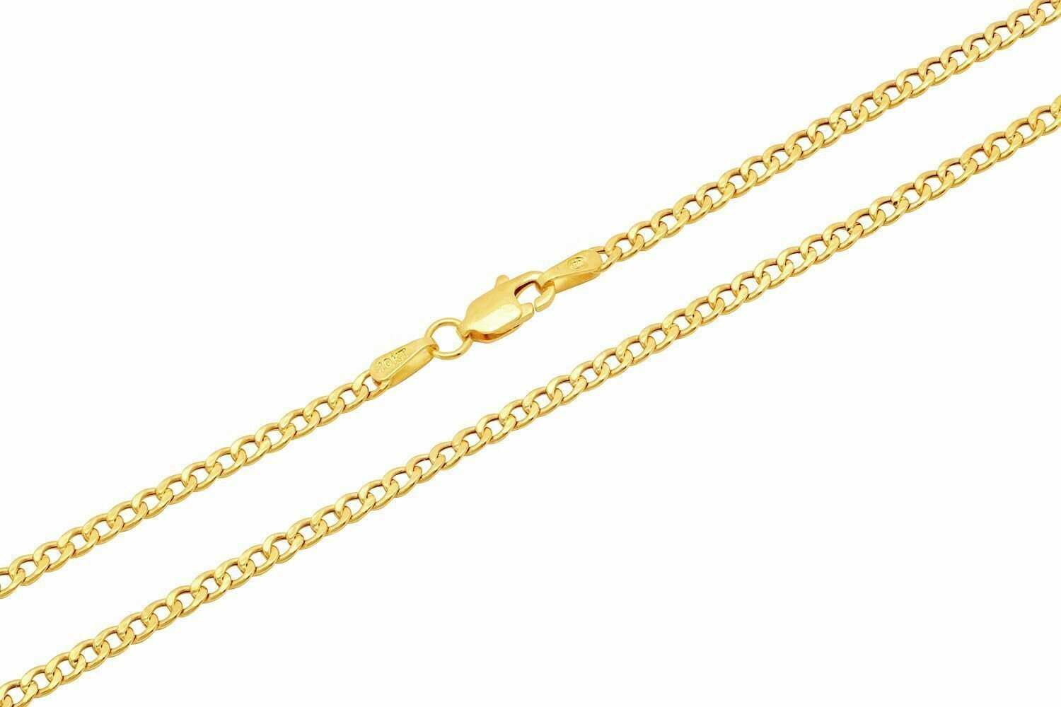 """10k Yellow Gold Cuban Curb Link Chain Necklace 2.5mm Men's Women Size 20"""""""