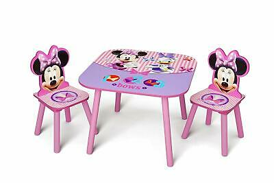 Minnie Mouse Table And Chair (Delta Children Kids Table and Chair Set (2 Chairs Included), Disney Minnie)