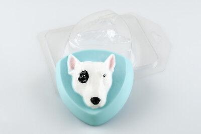 """Bull Terrier"" dog plastic soap mold soap making mold mould"