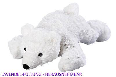Original Warmies Greenlife Lavendel Eisbär weiß Wärmestofftier 30 cm NEU & OVP