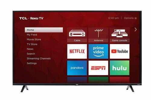 "TCL 55"" Smart 4K TV w/ Clear Motion 120, 3HDMI/1USB Ports & Built-in Wifi, Black"