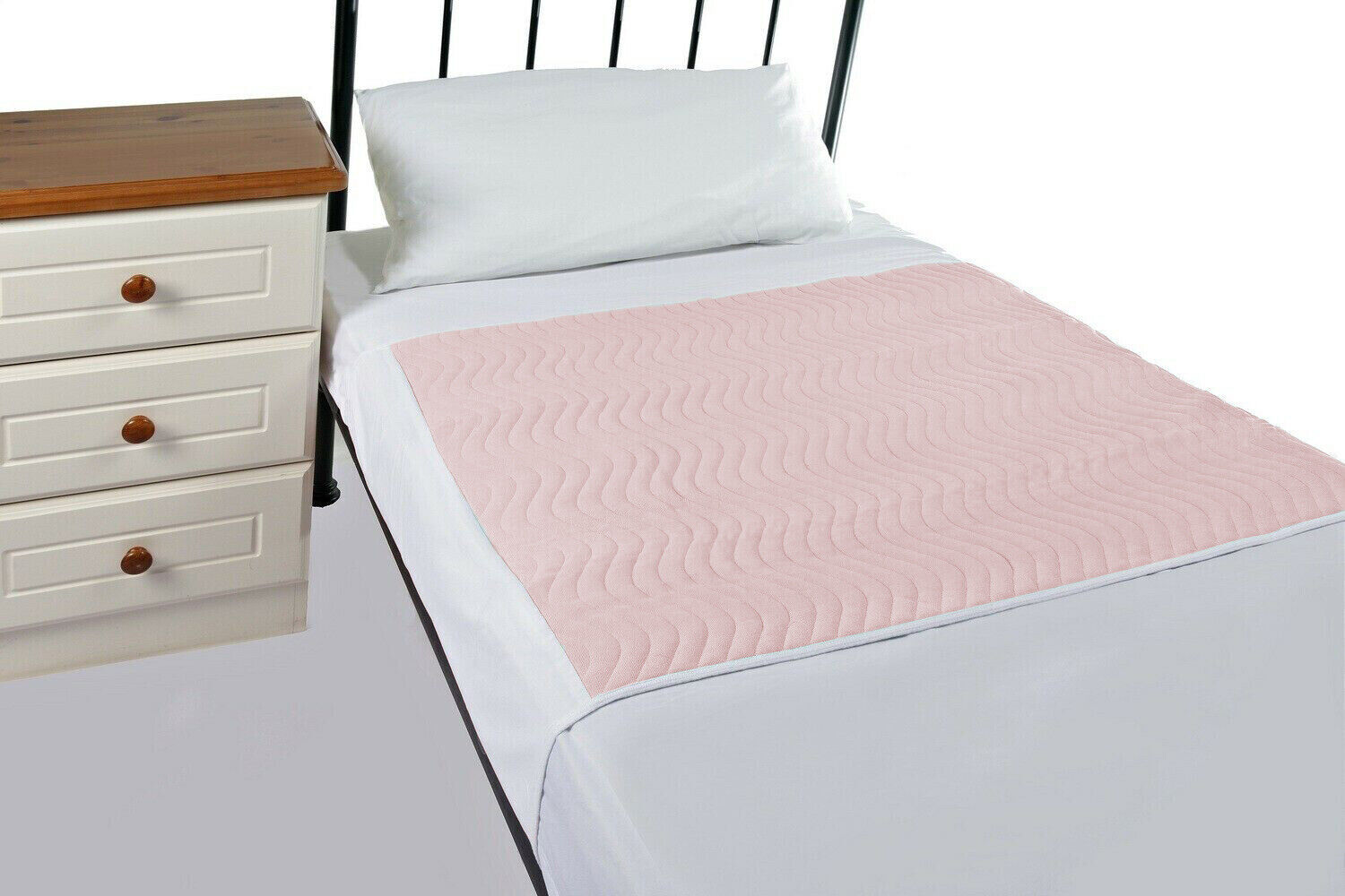 Washable Incontinence Set 2 X Pink Bed Pads With Tucks 1 X Mattress Protector Ebay