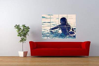 Surfing Girl Giant 1 Piece  Wall Art Poster SP130