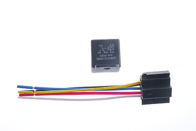 US Stock 12V 40A/DC 5Pin Car SPDT Auto Power Relay with Socket