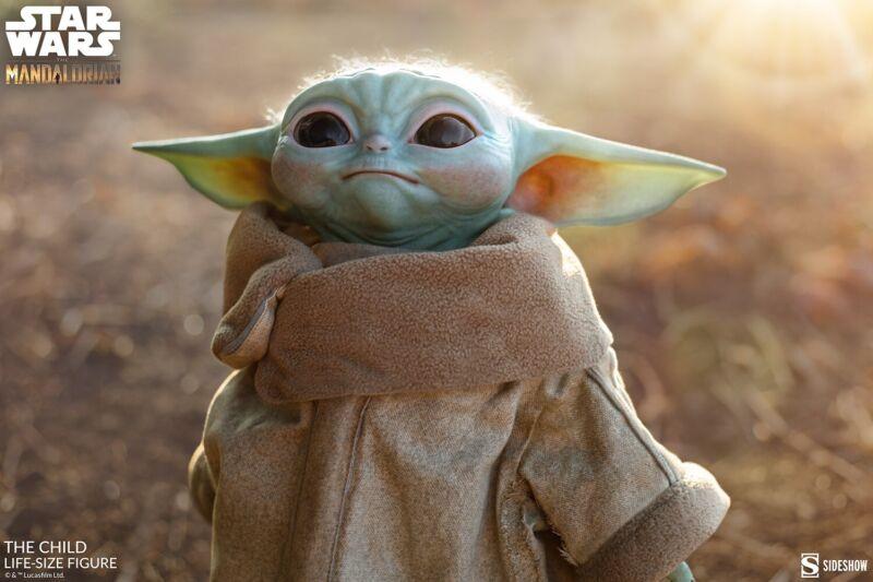Sideshow Life Size The Child Baby Yoda The Mandalorian Star Wars Disney+ Sealed