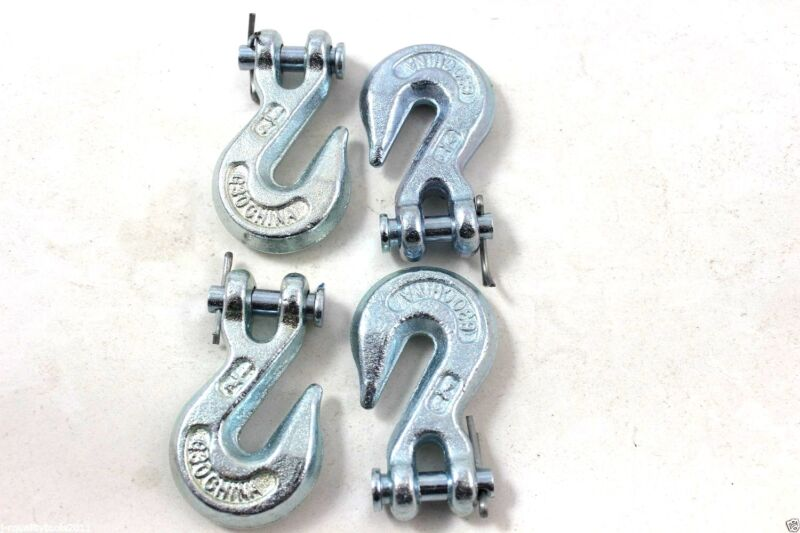 """REPLACEMENT CHAIN ENDS CLEVIS GRAB HOOK LOGGING TOWING EQUIPMENT G30 1/4"""" SET"""