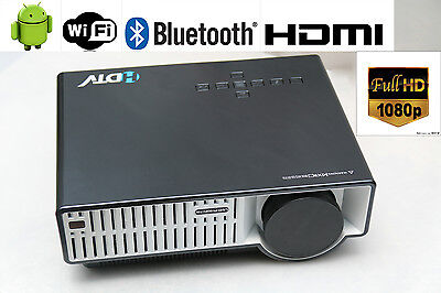 5000 Lumens 1920*1080 Max Home Theater Android TV HDMI USB FULL HD LED Projector