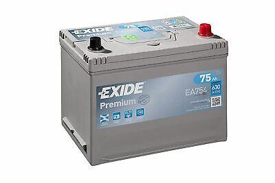Batería EXIDE Premium Carbon EA754 12V 75Ah 630A Similar TUDOR TA754