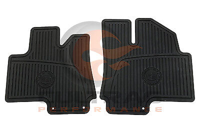 2010-2016 Cadillac SRX Genuine GM Front All Weather Floor Mats Black (2016 Cadillac Srx All Weather Floor Mats)