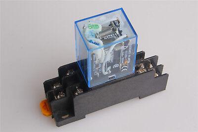 My2nj Hh52p-l Dc 12v5a Coil General Purpose Power Relay W Pyf08a Socket 8pin 1x