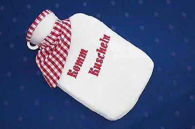 trendige Wärmeflasche mit Spruch - exklusive Handarbeit