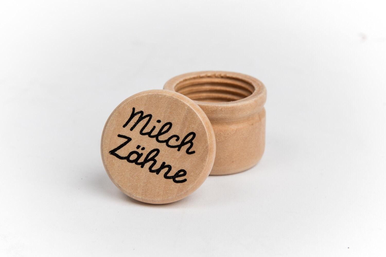 Milchzahndose Zahndose Holz Dose Milchzähne Geschenk Kinder Box Baby Taufe Fee