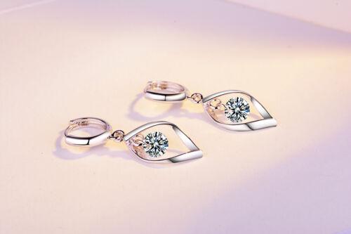 Zircone Cubique conique Zircon Cubique Design Naturel Rare sterling silver 925 Earring Fancy