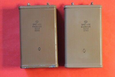 Capacitor Pio Okbg-mn 600v 4uf 10 Ussr Lot Of 1 Pcs