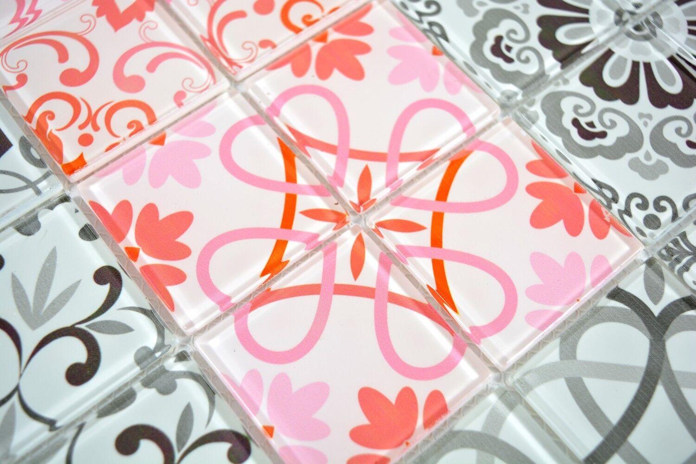 Retro Vintage Mosaikfliese Transluzent grau Glasmosaik Crystal GERMANY ...