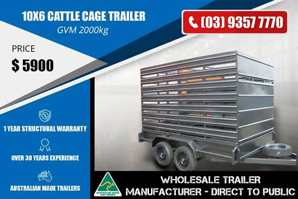 10x6 Cattle Cage Trailer - GVM 2000kg Epping Whittlesea Area Preview