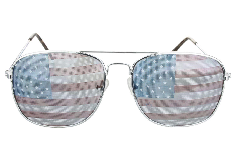 LOCS SQUARE USA FLAG STARS STRIPES SUNGLASSES CLASSIC PATRIOTIC SPORTY BIKER NWT