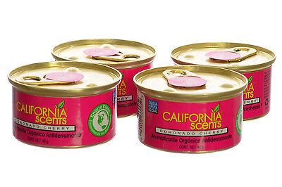 California Scents Spillproof Organic Canister Air Fresheners Coronado Cherry 4Pk