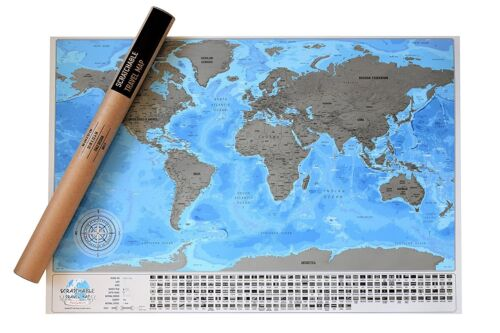 World Map. Scratch and Travel.