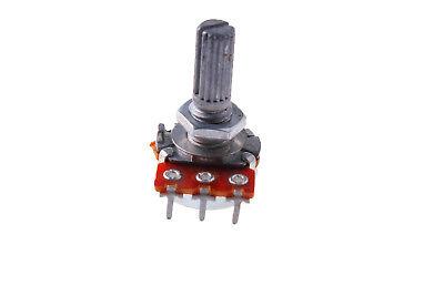 2pcs B2k Ohm Metal Shaft Single Linear Rotary Taper Potentiometer