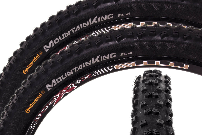 2x CONTINENTAL Mountain King II 26 x 2.4 Fahrrad Reifen 60-559 Draht