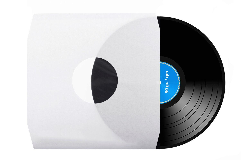 LP | Schallplatten | Innenhüllen | weiß | antistatisch | Eckschnitt | 90g./m²