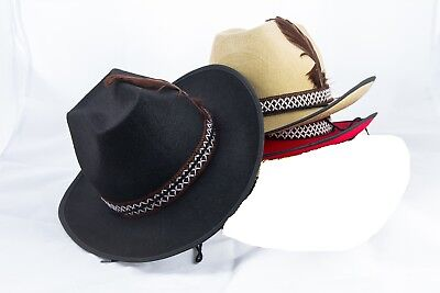 Cowboyhut mit Zierband und Feder Cowboy Hut Kostüm 129140313 129140413 129140513 ()