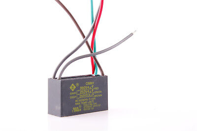 1X 4uf+4uf+2.5uf 250V/300V 5 Wire CBB61 Start Run Ceiling Fan Capacitor From US