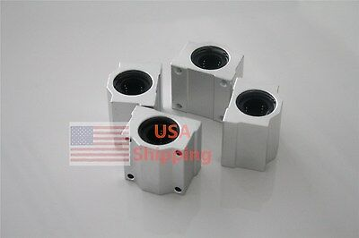 10mm 4pc Scs10uu Linear Ball Bearing Pillow Block Linear Slides Unit For Cnc