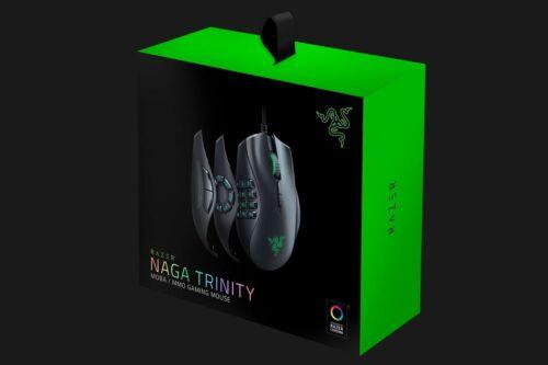 Razer Naga Trinity Chroma Gaming Mouse with 2 Interchangeable Side Plates