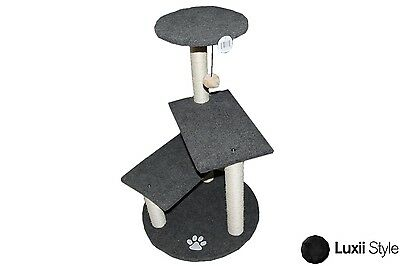 3 Step Tier Cat Tree With 5 Scratching Posts And Toy Kitt...