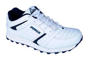 bata brand mens power white blue casual sports shoes  ebay