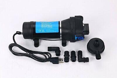 Ac 110v Self Priming Water Pressure Diaphragm Pump 4.5gpm 40 Psi For Boat Marine