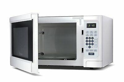 Westinghouse WCM11100W 1000 Watt Counter Top Microwave Oven, White Cabinet, NEW