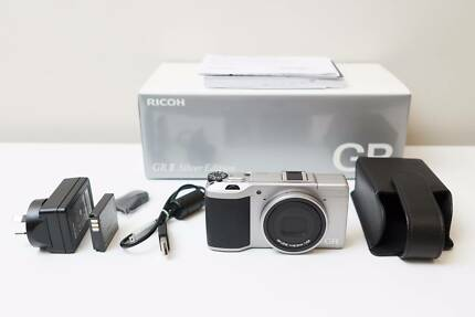 Ricoh GR II Camera Silver Limited Edition & Leather case As New