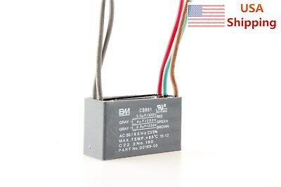CEILING FAN CAPACITOR CBB61 3.5uf+4uf+2.5uf 5 WIRE 250V 300V AC
