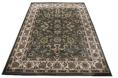 Traditional Oriental Medallion Area Rug Persian Style Carpet Green 5x7 (Empire Medallion Rug)