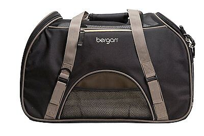 Bergan LARGE Comfort Carrier, Black / Brown, for small Pets, Dog or Cat