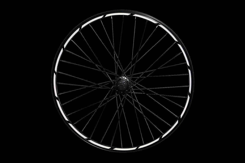 Reflektoren-Aufkleber für Fahrrad Felgen Weiss reflektierend bis 29 Zoll,