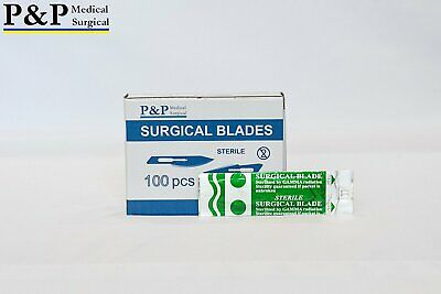 Disposable Surgical Scalpel Blades Size 15 Sterile Carbon Steel Box Of 100
