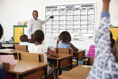 Dry Erase Laminated Classroom Monthly Wall Calendar, 36 in x 48 in (Laminated Monthly Wall Calendar)
